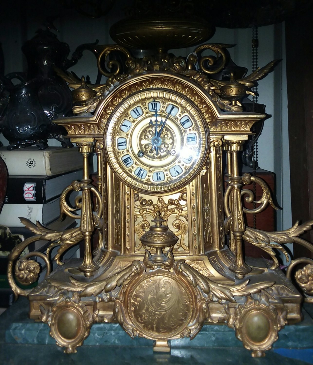 Bronze Tiffany and Company Clock