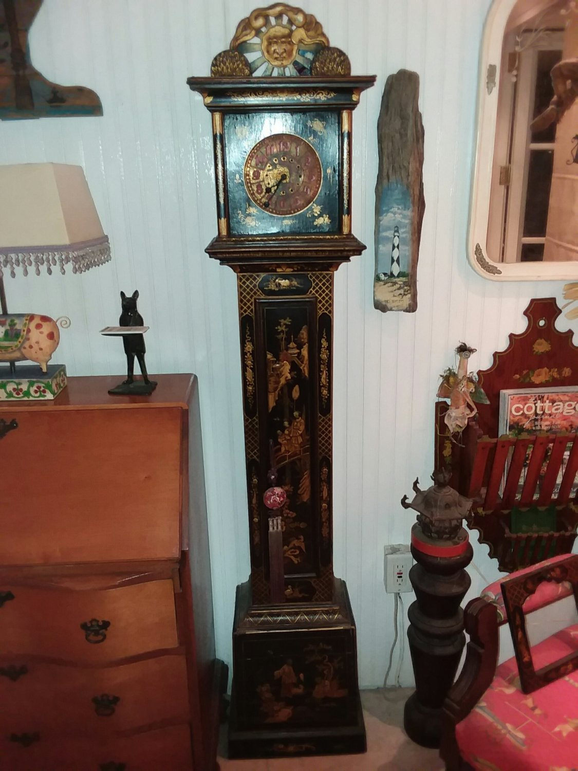 Extremely Rare Grandmother Clock
