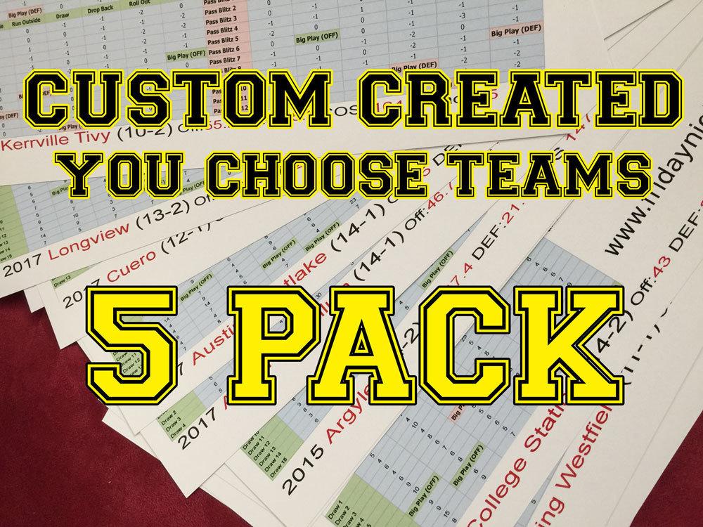 Custom Created 5-Pack 1500002
