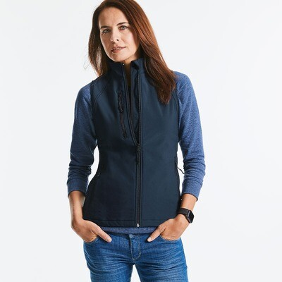 J141F Russell Women's softshell gilet