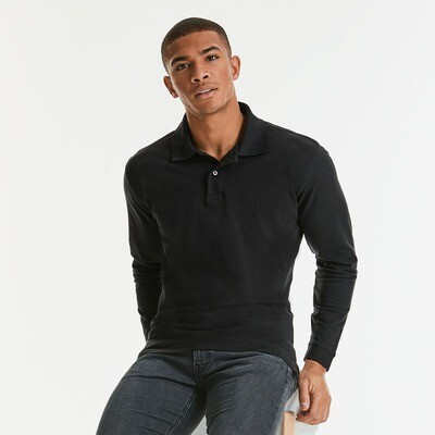 J569L Russell Long sleeve classic cotton polo
