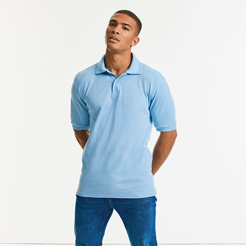 J599M Russell Hard-wearing 60 degree wash polo