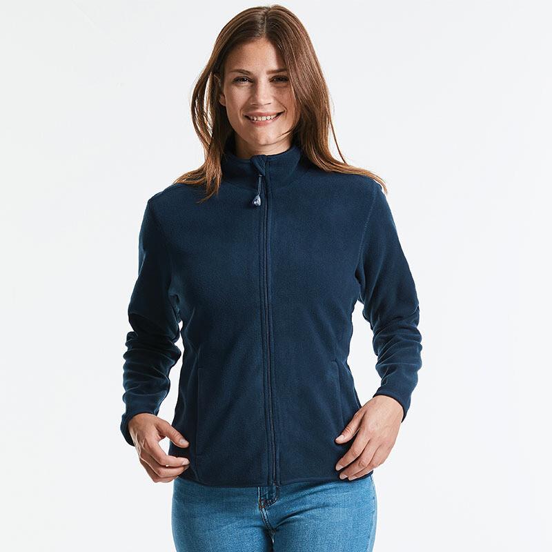 J883F Russell Women's full-zip fitted microfleece