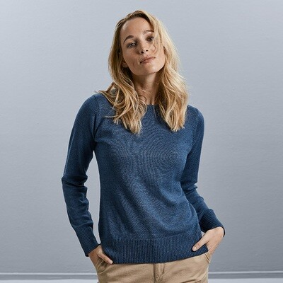 J717F Russell Collection Women's crew neck knitted pullover
