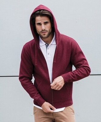 J263M Russell Authentic melange zipped hood sweatshirt
