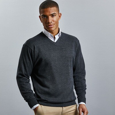 J710M Russell Collection V-neck knitted sweater