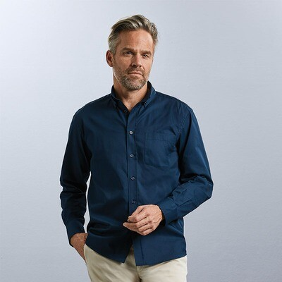J916M Russell Collection Long sleeve classic twill shirt
