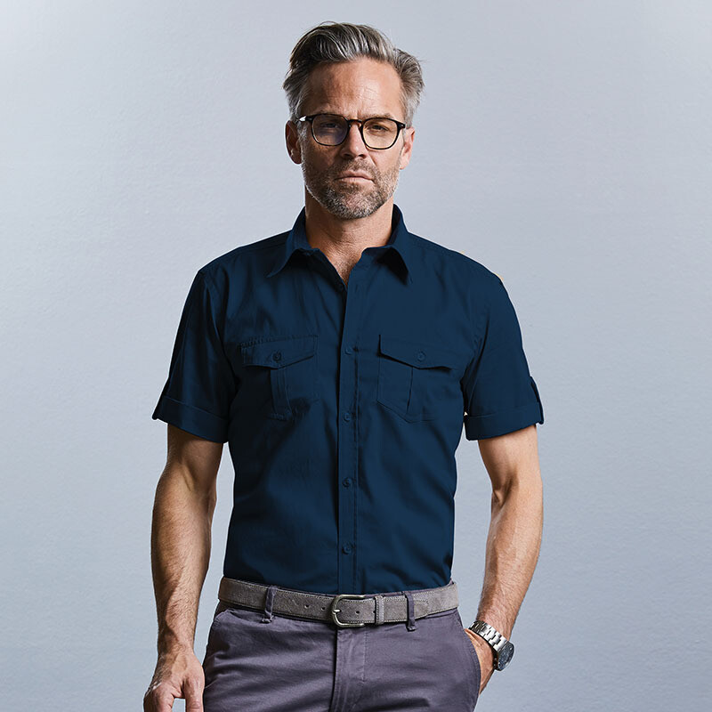 J919M Russell Collection Roll-sleeve shirt short sleeve