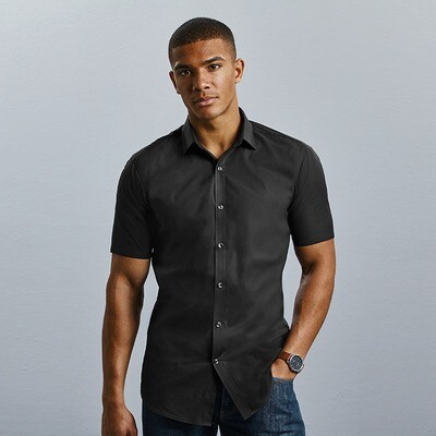 J961M Russell Collection Short sleeve ultimate stretch shirt