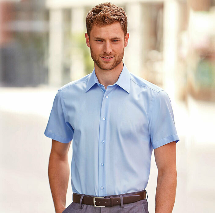 J959M Russell Short sleeve Tailored Ultimate Non-iron Shirt