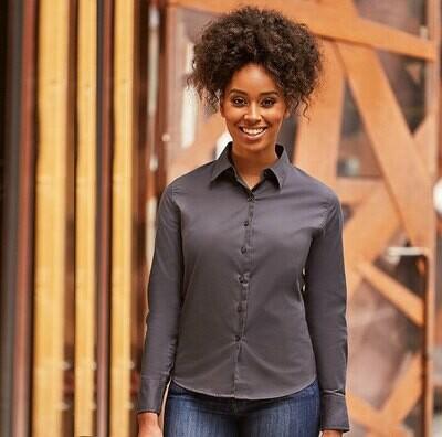 J916F Russell Women's long sleeve classic twill shirt
