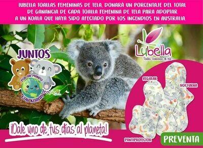 Toalla femenina de tela con causa: Koala