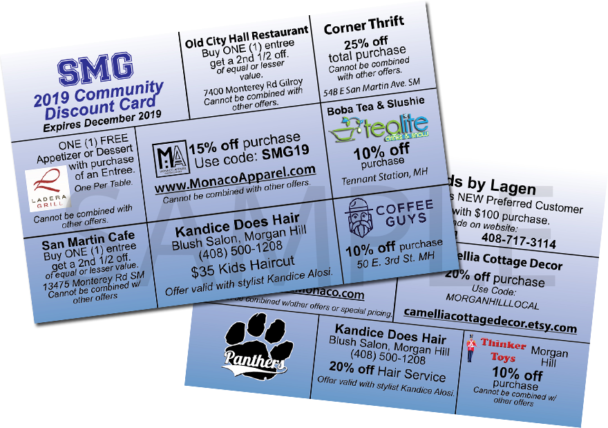 2019 SMG Community Discount Card