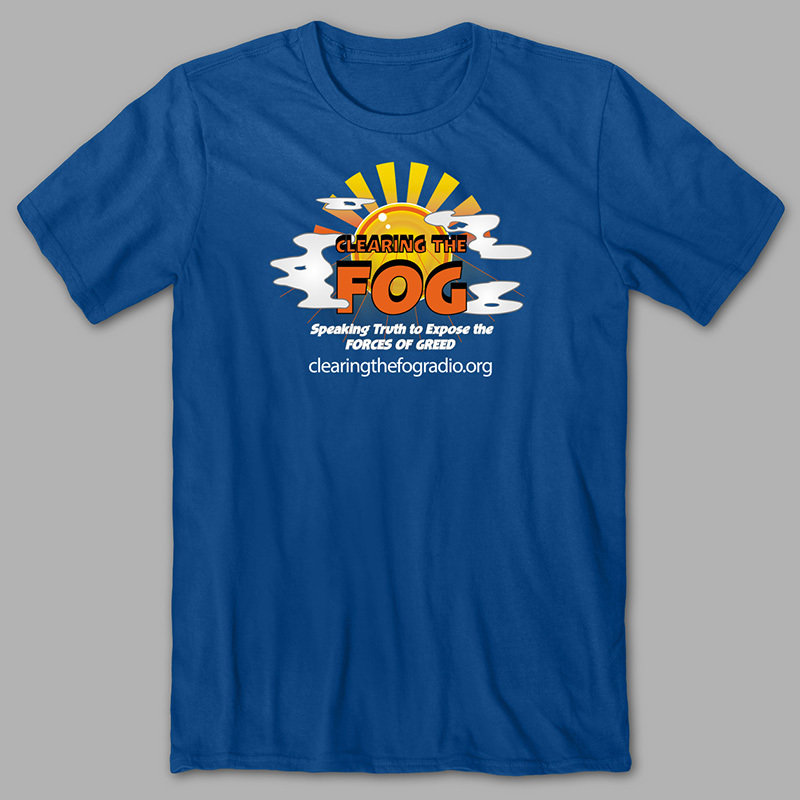 Clearing The Fog T-Shirt (blue) 00091