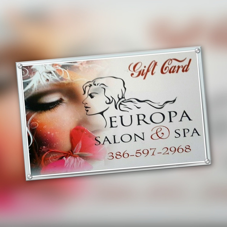 Europa Salon and Spa Gift Card $500