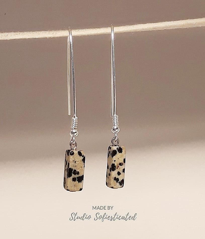 earrings jaspis dalmatier 00164