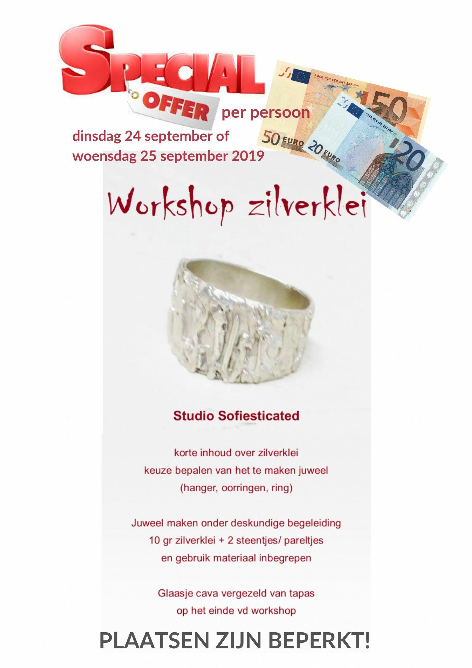 workshop special offer woensdag 25 september 2019 00191