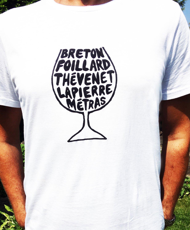 Beaujolais Natural Wine Glass T-shirt - Mens & Womens