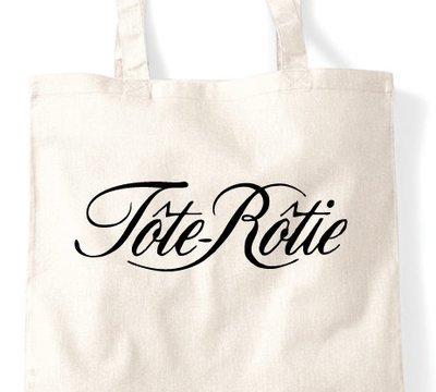 Cote Rotie Tote Rotie wine tote bag - Flock Shopping Bag, Gift Bag