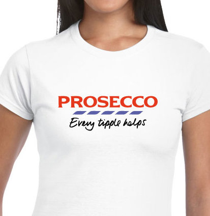Prosecco Sparkling Wine T-shirt - Every Tipple Helps!