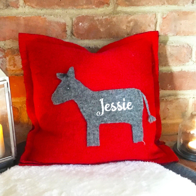 Little Donkey personalised Cushion