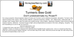 Turmeric Bee Gold - Small (1 ounce)