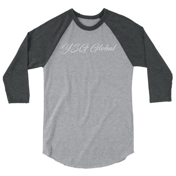 YSG Global 3/4 sleeve raglan shirt