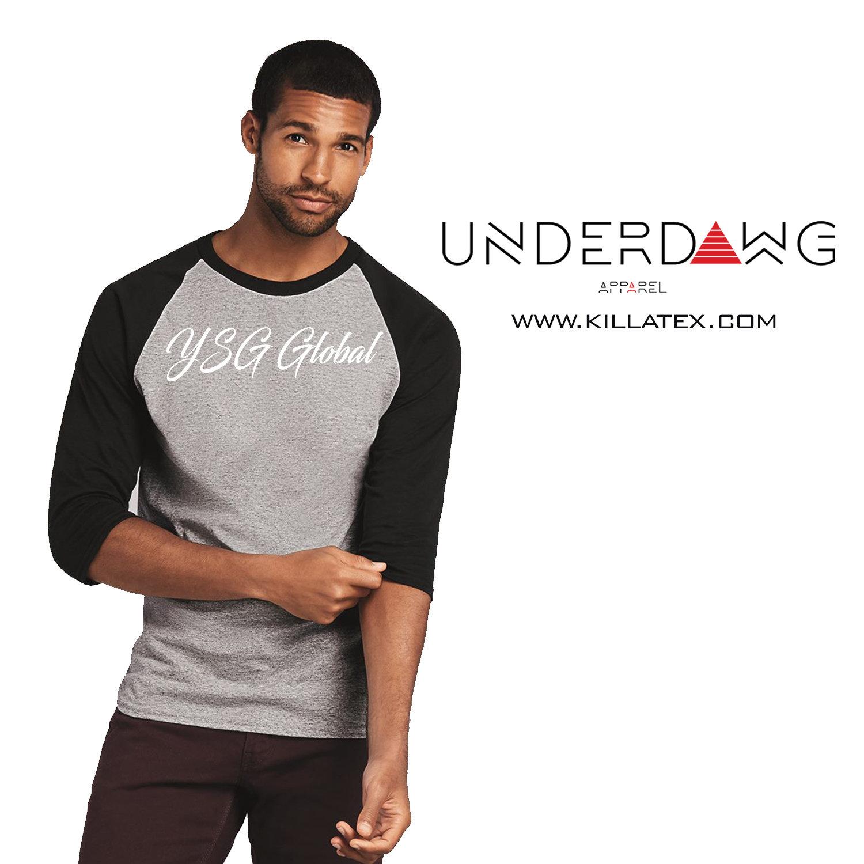 YSG Global 3/4 sleeve raglan shirt 00025