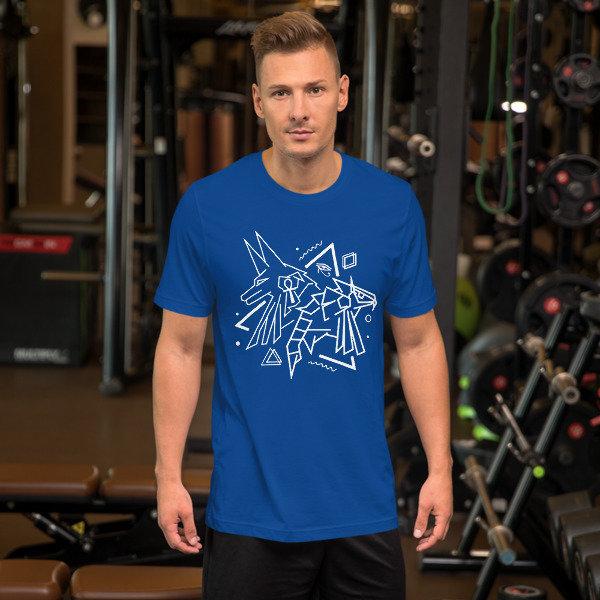Anubis X Horus Abstract Unisex T-Shirt 00060