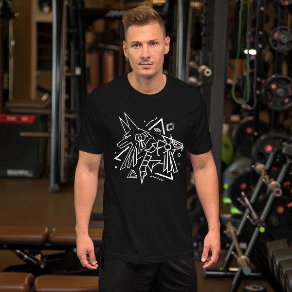 Anubis X Horus Abstract Unisex T-Shirt