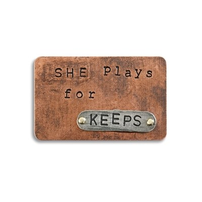 SHE PLAYS FOR KEEPS INSPIRE CARD