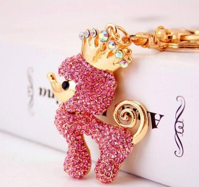 Poodle Queen  keychain