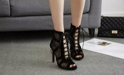 Peep Toe Tie up Gladiator High Heels