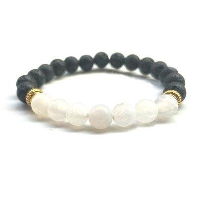 White Volcanic Diffuser Lava Yoga Bracelet*