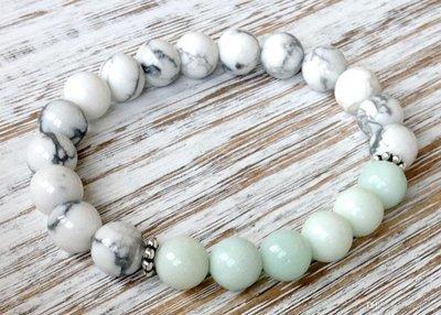 Trendy Howlite Amazonite Bracelet*