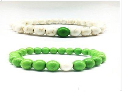 (2) Chakra Natural Stone Mala Beads Lover Charm Bracelets