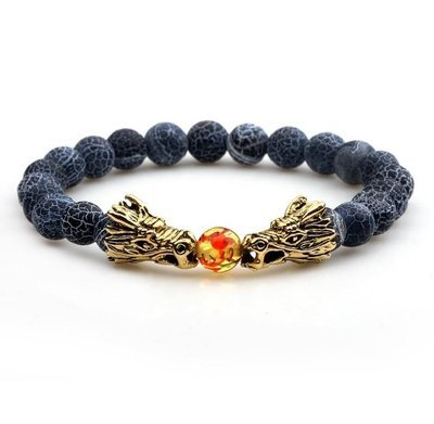 Dragon Bead Bracelet Blue