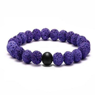 Purple aromatherapy Essential Oil Diffuser volcanic Lava Stone Bracelet*