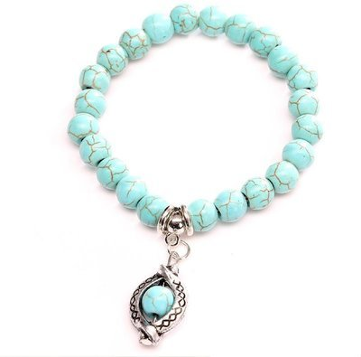 Snake Turquois Charm Bracelet