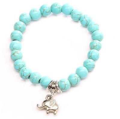 Elephant Turquois Charm Bracelet*