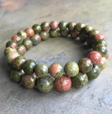 Unakite Jasper Beads Bracelet (1 item)