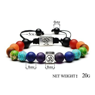 7 Reiki Chakra  Healing Balance Beads Braid Bracelet