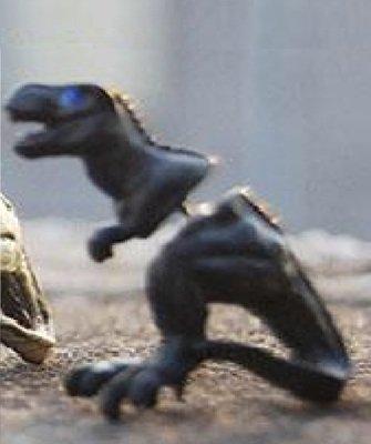 BLACK Alloy Dragon Dinosaur stud Ear Clip earrings