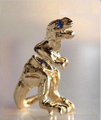 GOLD Alloy Dragon Dinosaur stud Ear Clip earrings