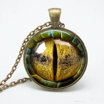 Natural Dragon Eye Pendant Necklace