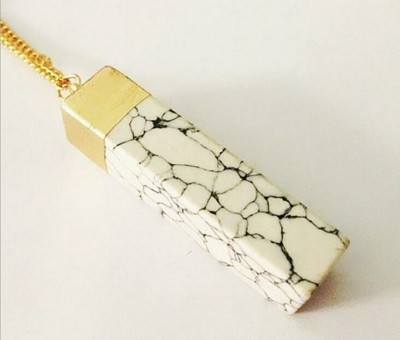 Marble Rectangle Necklace Pendant