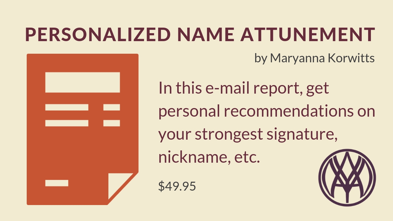 Personalized Name Attunement 00000