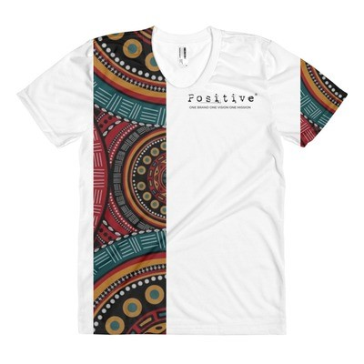 T-shirt POSITIVE -WEAFRICA WHITE