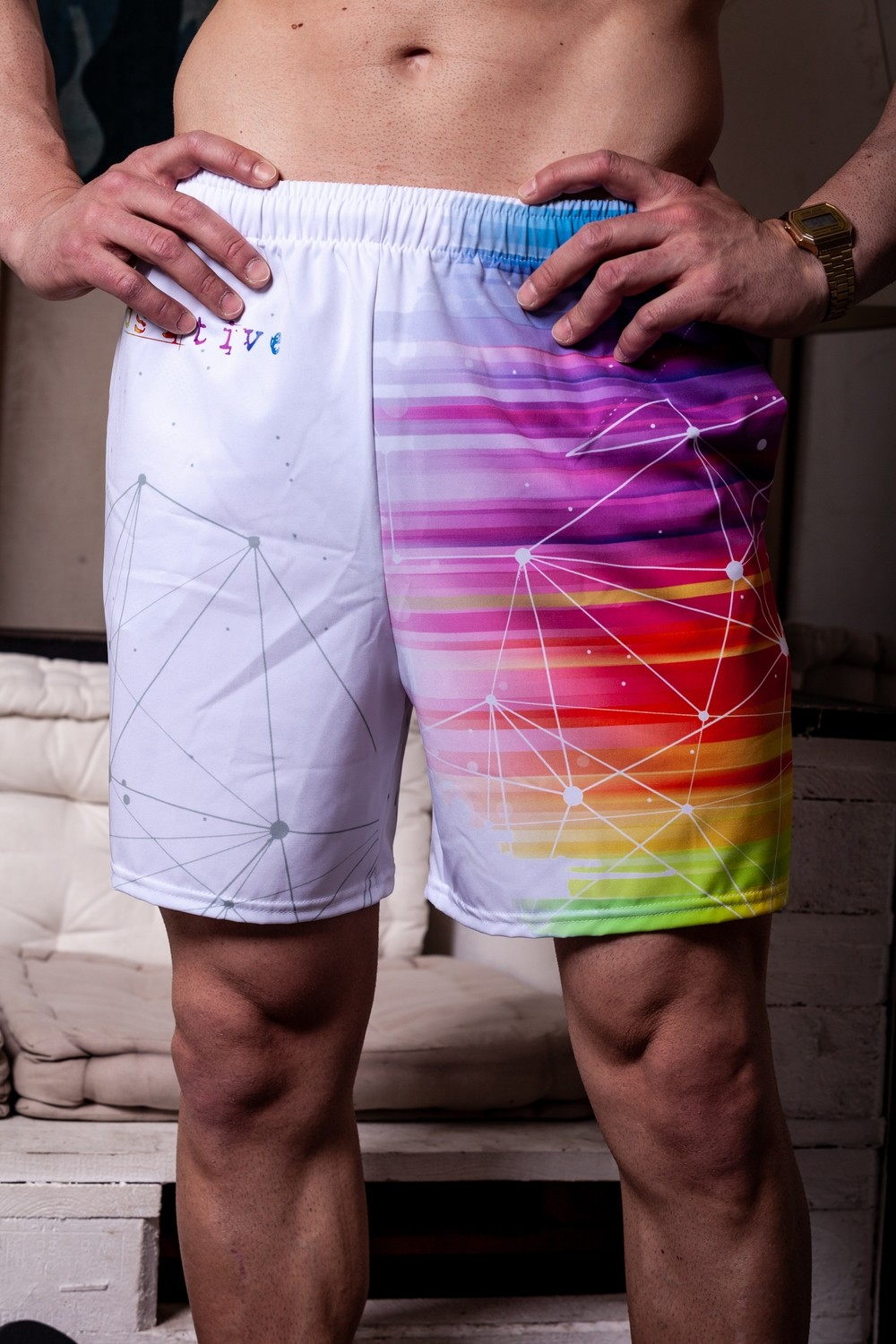 Outlet Costume Rainbow Swimshorts