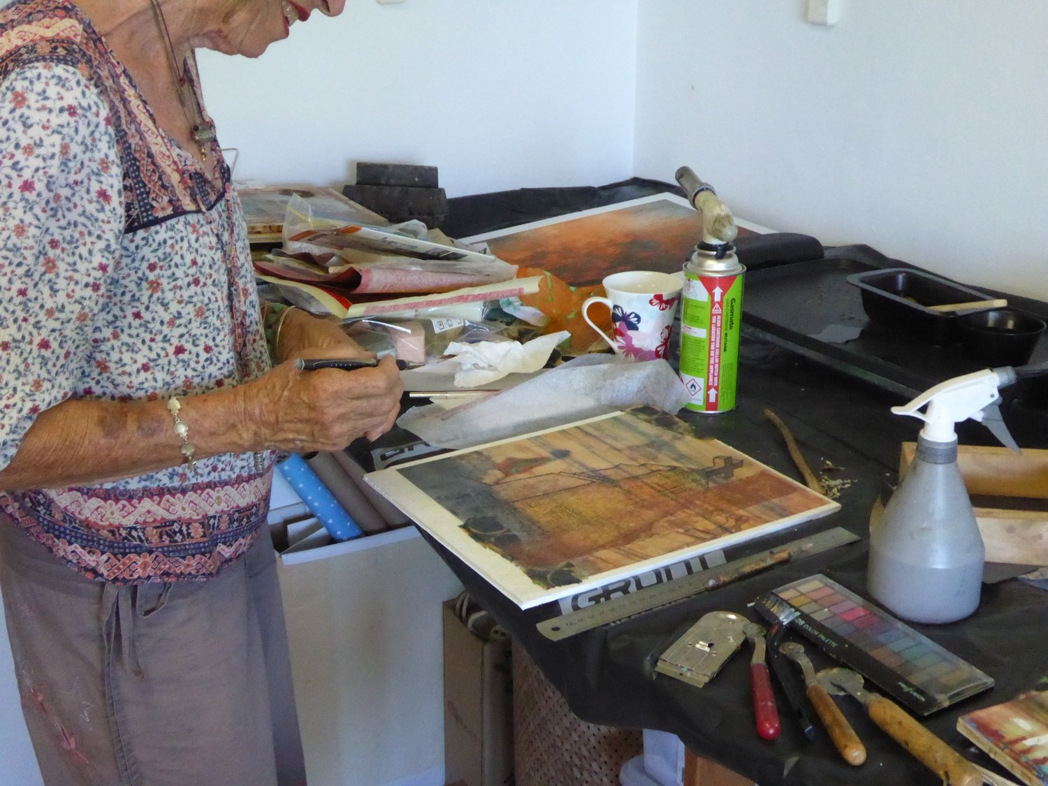 Hervey Bay  Encaustic Mixed Media Techniques Workshop  20/07/19